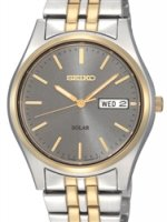 Seiko - Gents Solar, Two Tone Day / Date Watch