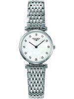 Longines - Grand Classique, Dia 0.048 MOP Set, Stainless Steel - Crystal Glass - Quartz Watch, Size 24mm