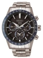 Seiko - Stainless Steel Gents GPS Solar Bracelet Watch