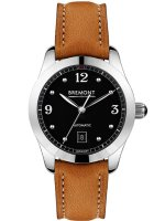 Bremont - Solo, Stainless Steel - Leather - Crystal/Glass Auto Watch, Size 32mm