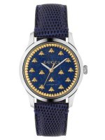 Gucci - G- Timeless, Lapis Set, Stainless Steel/Tungsten - Leather - Crystal/Glass Bee Design Watch