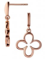 Links of London - Ascot, Sterling Silver, Rose Gold Plated Clover Drop Earrings
