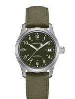 Hamilton - Khaki Field, Stainless Steel/Tungsten - Fabric - Glass/Crystal Mechanical Watch, Size 20mm