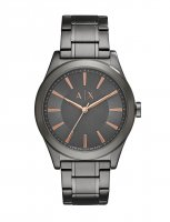 Armani Exchange - Stainless Steel Black Dial Watch