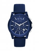 Armani Exchange - Blue Silicone Strap Chronograph Watch