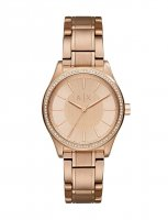 Armani Exchange - Swarvoski Crystal Set, Rose Gold Plated Watch