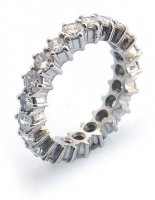 Eternity Ring, Fully set with Diamonds in Platinum