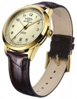 Rotary - Tradition, Leather Set, Yellow Gold Plated - Automatic Watch