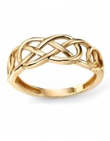 Gecko - 9ct Yellow Gold Celtic Pattern Ring, Size O