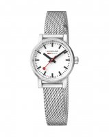 Mondaine - EVO2, Stainless Steel with Mesh Strap Watch