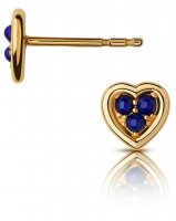 Links of London - Open Heart, Lapis Set, Yellow Gold Plated - - Stud Earring