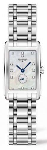 Longines - Dolcevita, Mother of Pearl and Diamonds Set, Stainless Steel - Watch
