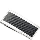 Mont Blanc - Stainless Steel Carbon Inlay Money Clip