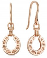 Links of London - Ascot, Rose Gold Plated Horseshoe Drop Earrings