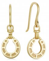 Links of London - Ascot, Yellow Gold Plated Drop Earrings