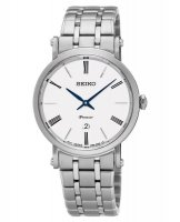 Seiko - Ladies Premier, Stainless Steel Date Circle Watch