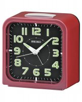 Seiko - Pink Plastic Bell Alarm, Snooze and Light Alarm Clock