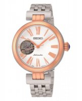 Seiko - Ladies Hardlex Crystal, Automatic, Rose Gold Plated and Stainless Steel Watch