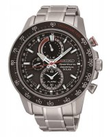 Seiko - Gents Sportura, Perpetual Solar, Stainless Steel Chronograph Watch