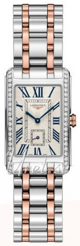 Longines - Dolcevita, Diamonds Set, Stainless Steel - Rose Gold Plated - Watch