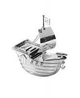 Guest and Philips - Unisex Pirate Ship, Silver Plated Money Box