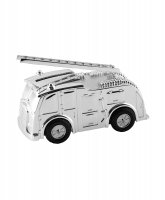 Guest and Philips - Unisex Fire Engine, Silver Plate Money Box