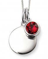 Gecko - Beginnings, July Birthstone, Swarovski Crystal Ruby Set, Sterling Silver Pendant, Size 41cm - 46cm
