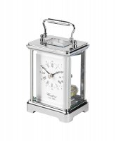Guest and Philips - Stainless Steel Skeleton Quartz Carriage Clock