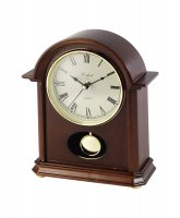 Guest and Philips - Wood Quartz Mantle Clock With Pendulum