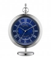 Dalvey - Stainless Steel Blue Face Grand Sedan Clock