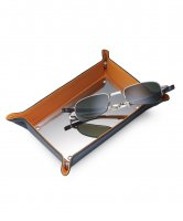 Dalvey - Leather Orange Change Tray