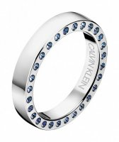 Calvin Klein - Blue Crystal Set, Stainless Steel Ring, Size N