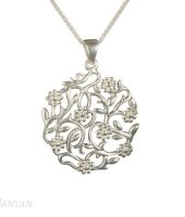 Banyan - Sterling Silver Flowering Branches Necklace