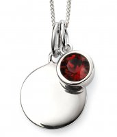 Gecko - Beginnings, January Birthstone, Swarovski Crystal Garnet Set, Stirling Silver Pendant, Size 41cm - 46cm