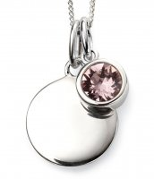 Gecko - Beginnings, June Birthstone, Swarovski Crystal Light Amethyst Set, Sterling Silver Pendant, Size 41cm - 46cm