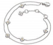 Kit Heath - Blossom Flyte, Sterling Silver Honey Flower Bracelet