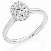 Guest and Philips - Diamond C0.32Dsi H0.15Fvs Set, Platinum - - Cluster Ring M