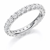 Guest and Philips - Diamond  1.50ct  G si Set, Platinum - Full Eternity Ring