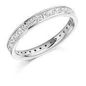 Guest and Philips - Platinum and Diamond Full Eternity Ring