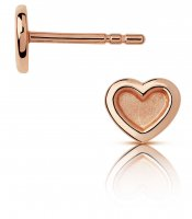 Links of London - Endless Love , Rose Gold Plated Heart stud earrings