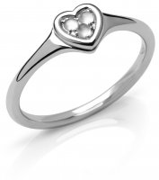 Links of London - Open Heart, Moonstone Set, Sterling Silver - - Ring