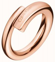 Calvin Klein - Rose Gold Plated Ring, Size M