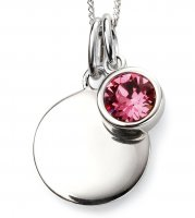 Gecko - Beginnings, October Birthstone, Swarovski Crystal Rose Set, Sterling Silver Pendant, Size 41cm - 46cm