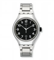 Swatch - Stripe Black, Stainless Steel Stripe Black Watch