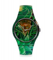 Swatch - THE DREAM BT HENRI ROUSSEA, Plastic/Silicone - Watch, Size 41mm