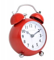 London Clock - Red Bubble Twinbell Alarm Clock