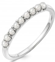 Links of London - Orbs, Pearl Set, Sterling Silver - Ring, Size N