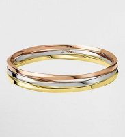 Calvin Klein - Two Tone Steel, Rose Gold Plated, Gold Plated Exclusive Bangle