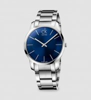 Calvin Klein - Men's City, Stainless Steel Blue Dial Watch, Size 43mm