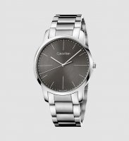 Calvin Klein - City, Stainless Steel Black Dial Watch